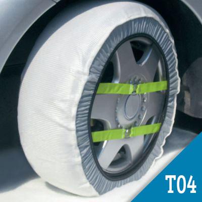 Coppia Calze da Neve SnowGecko Approvate Onorm Taglia L per pneumatici 215//35r19